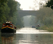 photo of a residential canal boat trip